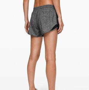 """Grey Lululemon 2.5"""" hotty hot running shorts 2"""